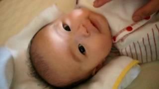 006_生後3ヶ月2日赤ちゃん 「会話のコミュニケーション」 3 month old baby thumbnail