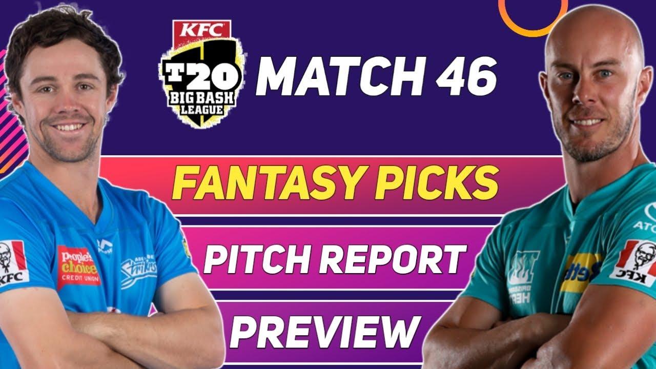 Adelaide Strikers vs Brisbane Heat | Fantasy Picks | Pitch Report | Preview