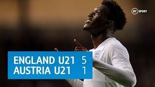 England U21 vs Austria U21 (5-1) | European Under-21 Qualifying Highlights