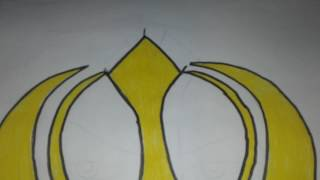 Sikh symbol draw and colour in drawing