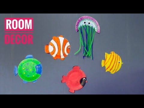 How To Make Fantastic Fish Out Of Paper Plates - Ocean Fantazy Room Decor For Kids
