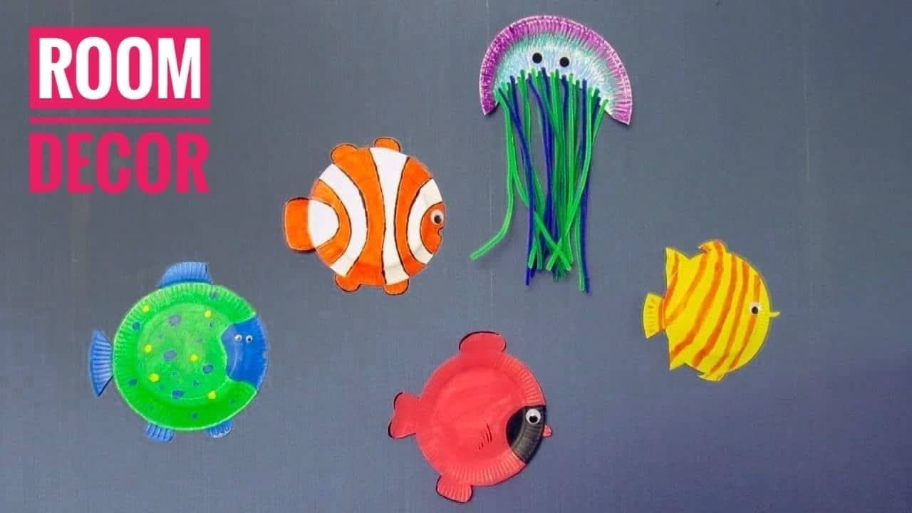 How To Make Fantastic Fish Out Of Paper Plates - Ocean Fantazy Room Decor For Kids & How To Make Fantastic Fish Out Of Paper Plates - Ocean Fantazy Room ...