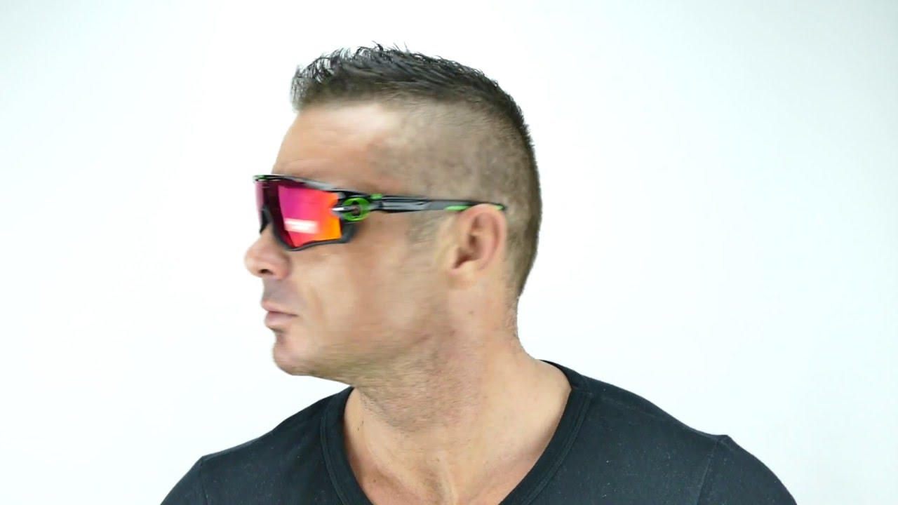 Oakley Jawbreaker Prizm >> Oakley Jawbreaker Polished Black Prizm Road OO9290-10 - YouTube