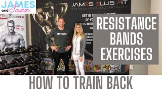 How To Train Back || Resistance Bands Exercises || Exercise Demonstrations || Back || Traps