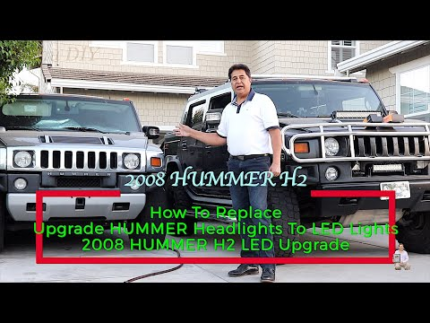 How To Replace | Upgrade HUMMER Headlights To LED Lights | 2008 HUMMER H2 LED Upgrade