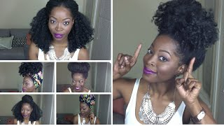 6 QUICK HAIRSTYLES FOR A KINKY CURLY WIG Featuring: THE KINKY KURL OUT UNIT by Fingercomber