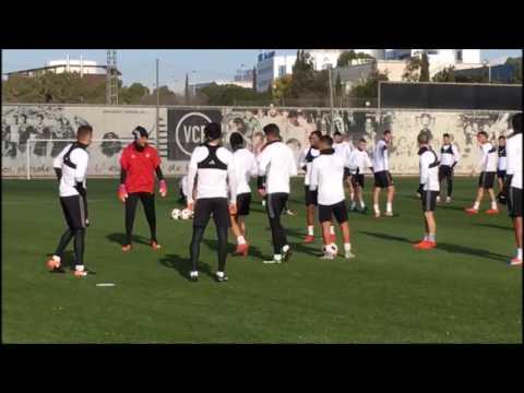 Valencia CF: Entrenamiento 30 Diciembre 2016