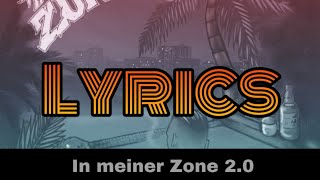 RAF Camora  In meiner Zone 20 (Lyrics)