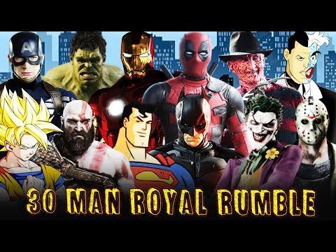 WWE 2K17 Superheroes Royal Rumble Match