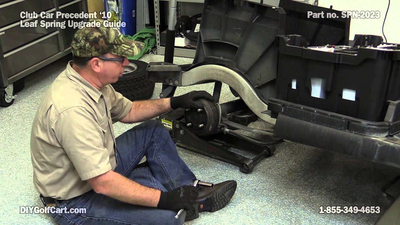 club car precedent heavy duty leaf springs how to install on golf cart rear [ 1280 x 720 Pixel ]