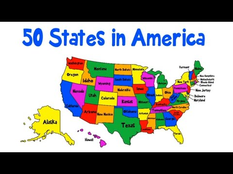 Fifty States Song Alphabetical Order | Fifty States Of America Map | Patriotic Song | Patty Shukla