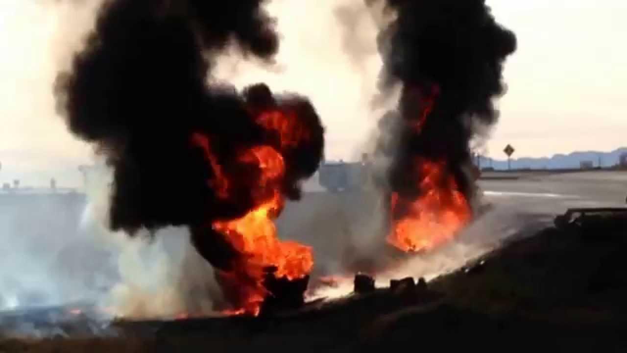 Truck Explosion & Aftermath on I-15 near Spanish Fork, Utah