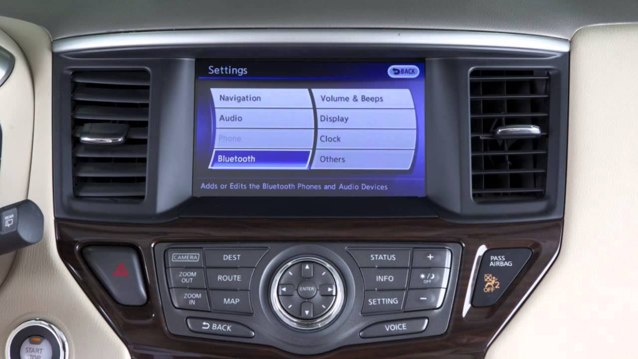 2013 nissan pathfinder bluetooth streaming audio if so