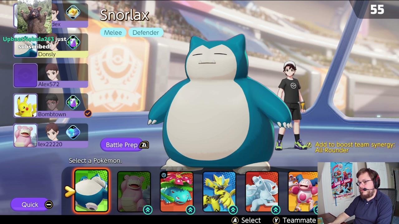 Dunkey Streams Pokémon Unite