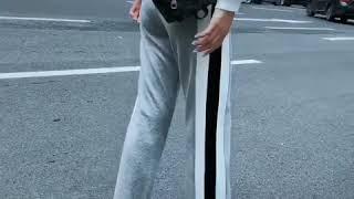 韓系運動高腰寬松直筒休閒寬口褲單品長褲 thumbnail