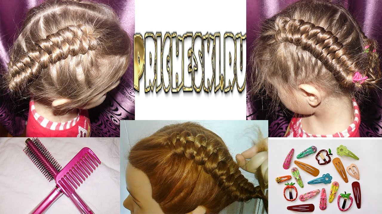 Прически для девочек.плетение кос 25