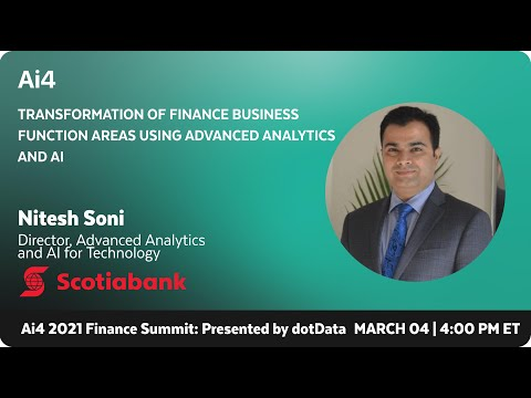 Transformation of Finance Business Function Areas Using Advanced Analytics & AI