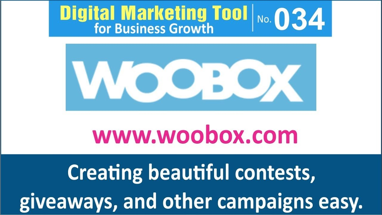 Digital Marketing Tool for Business Growth [034] | Woobox - Sweepstakes,  Coupons for Facebook Pages