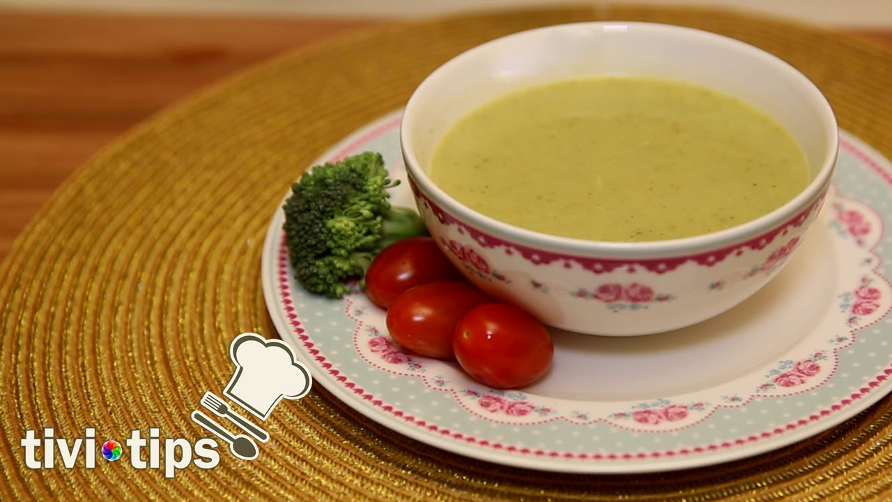 Kremalı Brokoli Çorbası   Tivitips Yemek Tarifi