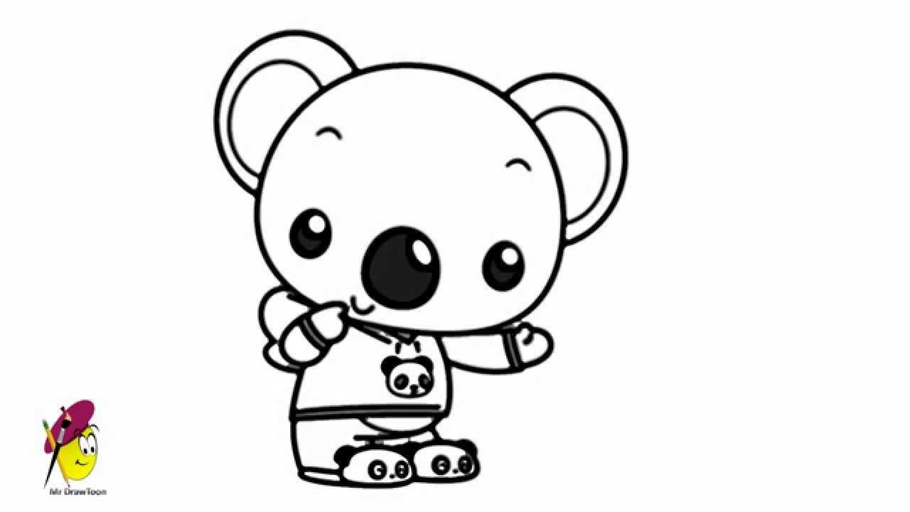 Uncategorized Draw Koala koala ni hao kai lan how to draw from youtube