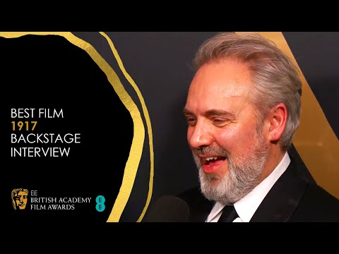 sam-mendes-&-the-cast-of-1917-celebrate-their-best-film-win-|-ee-bafta-film-awards-2020