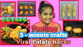 Testing out viral POTATO hacks by 5-Minute crafts  5 DELICIOUS HACKS WITH POTATOES