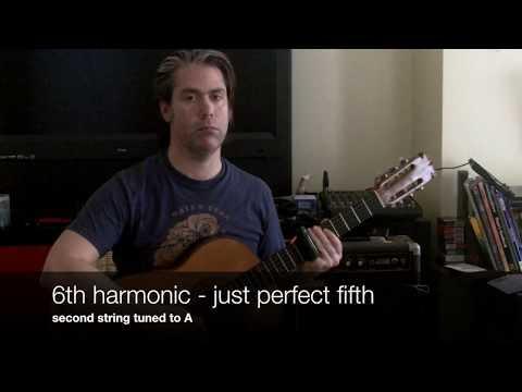 Slide guitar tuned to the harmonic series