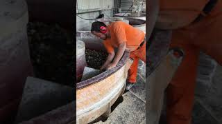Denizli Travertine Quarry - Tumbling Process