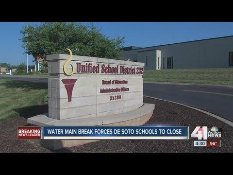 Three DeSoto schools cancel class due to water main break