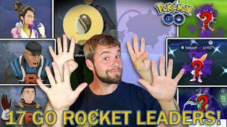 SHINY SHADOW POKEMON HUNTING! 17 TEAM GO ROCKET LEADERS DEFEATED! WHAT DID I GET? (Pokemon GO)