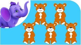 Repeat youtube video Five Brown Teddies -  Nursery Rhyme