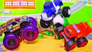Вспыш и чудо машинки - Мультики про машинки Hot Wheels - Игрушки для детей. Сборник все серии подряд