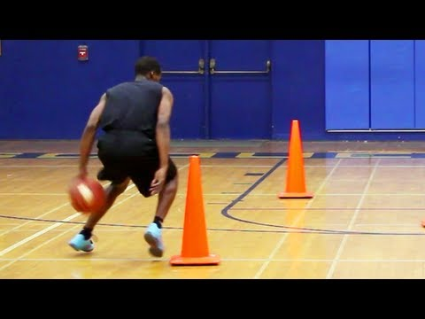 """BASKETBALL DRIBBLE DRILL : """"Serpentine with Flat Back Dribble"""" - Shot Science"""