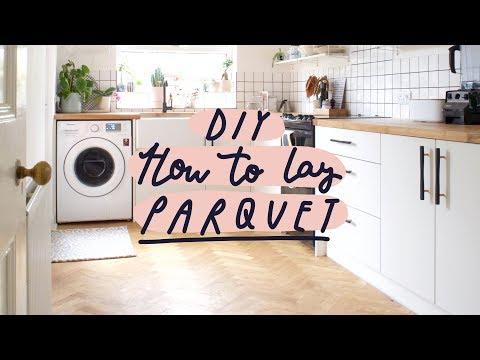 How To Lay a Parquet | Solid Oak Herringbone Floor | DIY