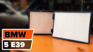 Kā mainīt Salona filtrs BMW 5 (E39) - rokasgrāmata