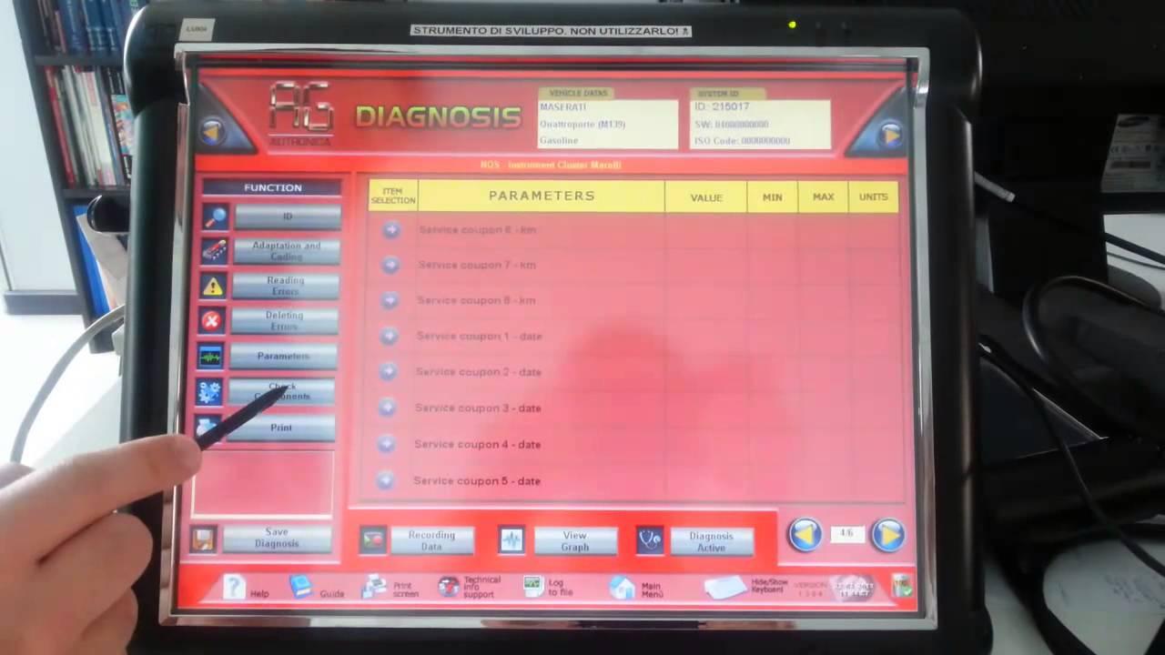 leonardo diagnostic tool: reset service data m139 - youtube
