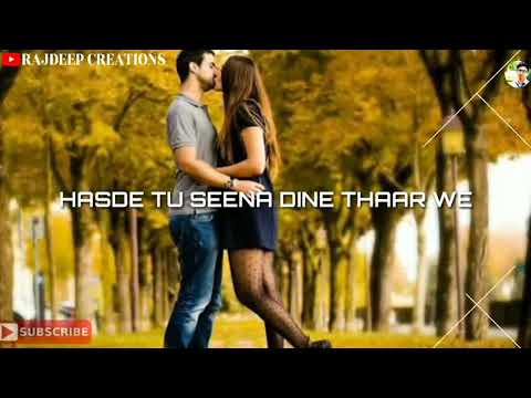 New Whatsapp Status  Udeek Di Smile Teri Rhni Aa  Jatta  Bunny Gill  Rajdeep Creations