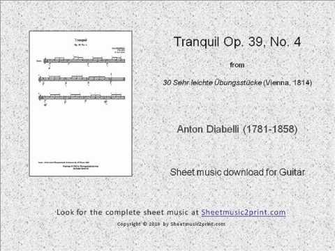 Diabelli : Tranquil Op 39 No 4