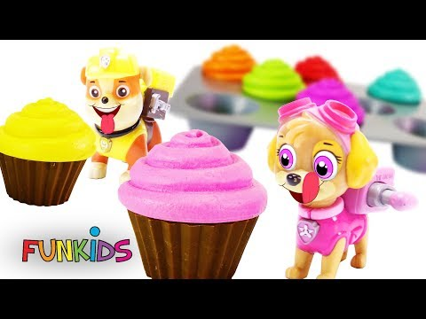 Learn Colors with Paw Patrol Cupcakes...