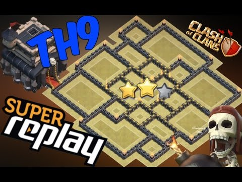 TH9 War Base 2016 Anti Valkyrie ♦100% Anti 3 Star♦Anti 2 Star ♦With Replay Proof