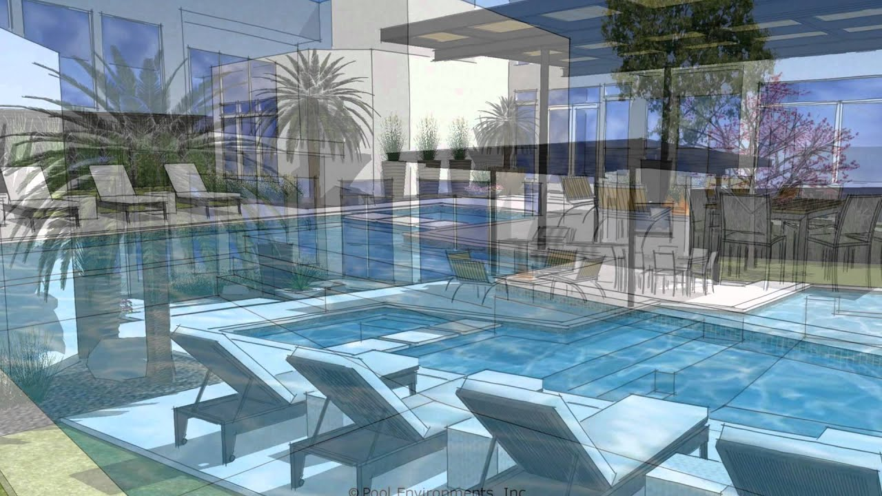 A modern swimming pool design by dallas pool builder pool for Swimming pool design xls