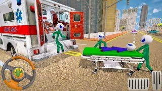 Stickman Rescue Ambulance Drive - 🚑 Fun Game Android Gameplay