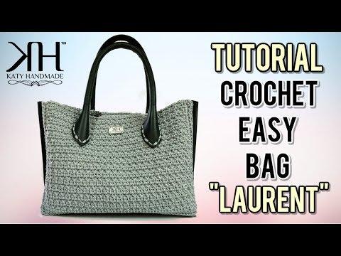 "TUTORIAL BORSA UNCINETTO ""Laurent"" - Punto Foglia crochet - Collab. w/ Nina Handmade● Katy Handmade"