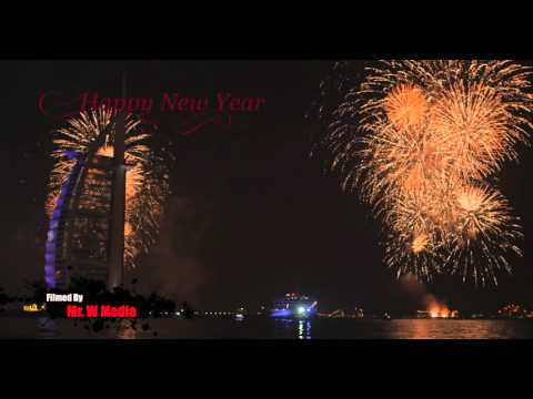 Dubai New Year 2016 Fireworks - Burj Al Arab - DJ Electro House