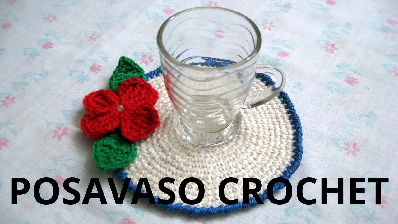 Como hacer posa vasos en tejido crochet o ganchillo - Como hacer bolsos tejidos ...