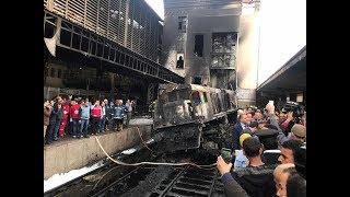 أول ظهور للمتهمين بحادث قطار محطة مصر داخل قفص المحكمة