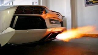 Lamborghini Aventador by Edo Competition SHOOTING EPIC FLAMES!