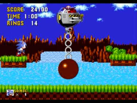 Sonic 1 Green Hill Zone Robotnik Battle Youtube