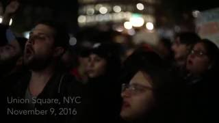 ANTI-TRUMP PROTEST UNION SQUARE YOUTH CHANTS SLANDERING PRESIDENT - November 9, 2016