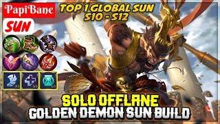solo-offlane-sun-golden-demon-sun-build-top-1-global-sun-s10-s12-papibane-sun